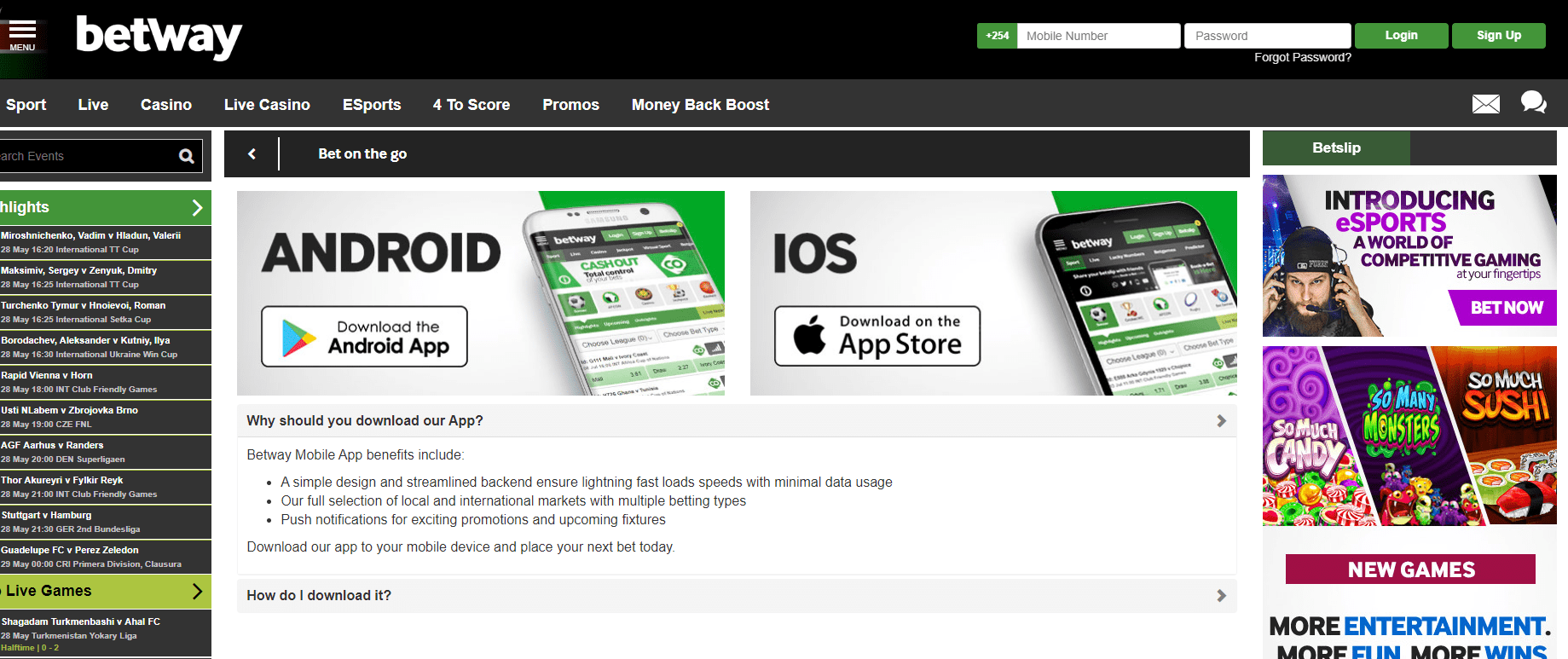 Betway Kenya Mobile App Download