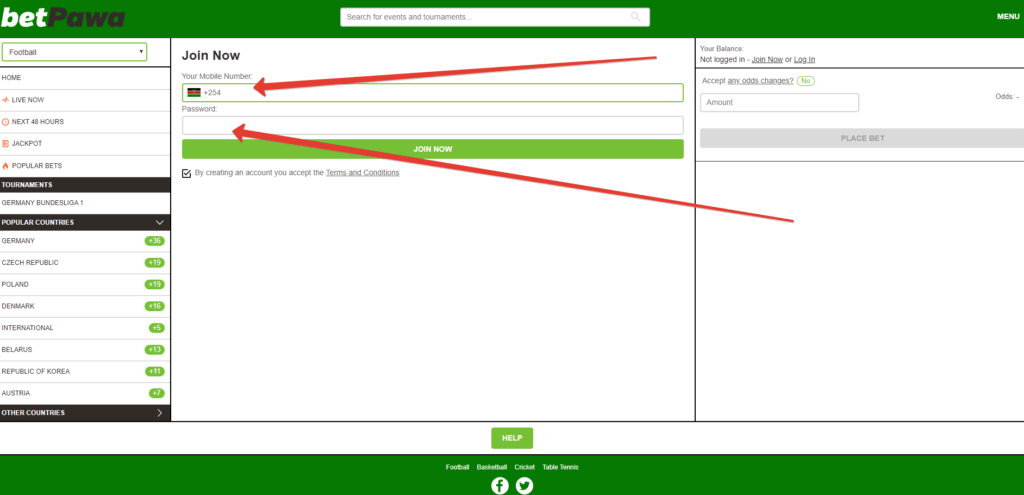 betPawa Registration: How to Create an Account