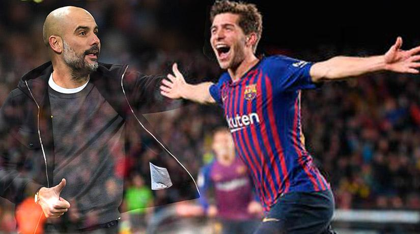 Pep Guardiola is keen to sign Sergi Roberto for Manchester City