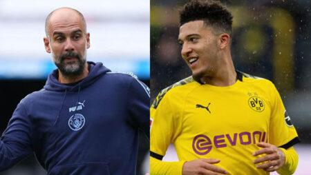 Pep Guardiola rules Jadon Sancho return to Manchester City