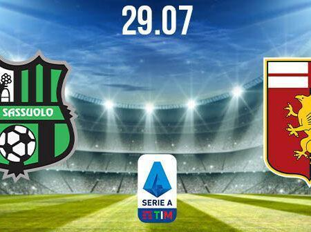 Sassuolo vs Genoa Preview and Prediction: Serie A Match on 29.07.2020