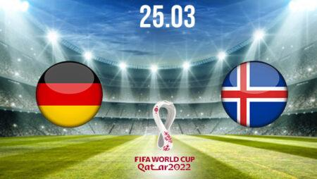Germany vs Iceland Preview and Prediction: World Cup Qualifier on 25.03.2021